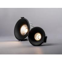 LED-alasvalon kehys Hide-a-lite Optic Deep XS, musta