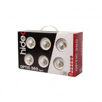 LED-alasvalo Hide-a-litesarja Optic 360 6-pack valkoinen 3000K, Verkkokaupan poistotuote