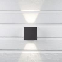 LED-seinävalaisin Hide-a-lite Cube II antrasiitti 3000K