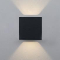 LED-ulkoseinävalaisin Hide-a-lite Cube XL II, 3000K, antrasiitti