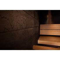Saunapaneeli Taika Ruutu, musta ympäripontattu, 12x360x360mm
