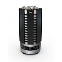 Sähkökiuas Helo Robust black 80 STJ BWT, 8kW, 8-12m³, manuaalitäyttö, kiinteä ohjaus