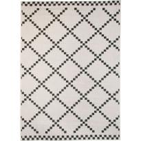 Kääntömatto Hestia Sumu, 80x150cm, musta/valkoinen