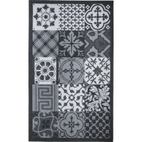 Kynnysmatto Mosaic Hestia, 45x75cm, musta