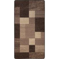 Käytävämatto Hestia Quadro, 80x200cm, ruskea