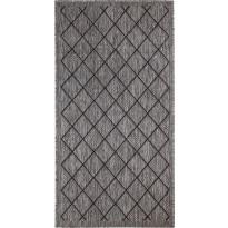 Matto Hestia Ruutu, 80x150cm, harmaa/musta
