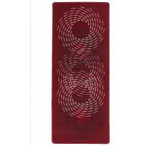 Käytävämatto Hestia Pyörre, 80x150cm, punainen