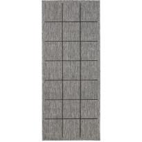 Matto Hestia Oodi, 80x400cm, harmaa/musta