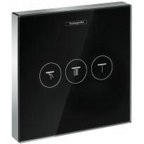 Suihkun käyttöventtiili Hansgrohe ShowerSelect Glass, musta/kromi