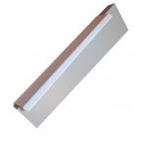 Profiilivedin Hiipakka Curve, 200x17x38mm, cc 128mm, valkoinen