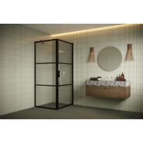 Suihkunurkka Hietakari Bläk 760 Tokyo, kiinteä seinä ja kääntyvä ovi, eri kokoja
