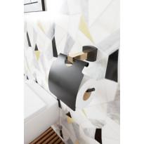 WC-paperiteline Hietakari Melange, musta/messinki