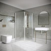 Suihkunurkka Hietakari Classic 155, kaarevat ja kääntyvät ovet, eri kokoja, eri värejä