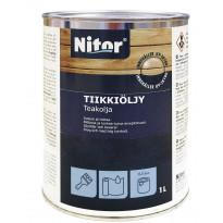 Tiikkiöljy Nitor, 1L