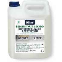 Betonin puhdistaja ja suoja-aine Nitor, 4L