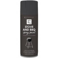Spraymaali grilleille ja uuneille Rust-Oleum STYL, 400ml, mattamusta