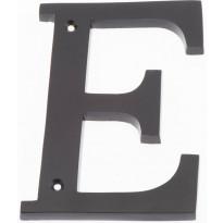 Talokirjain Hovila, E, 125mm, musta