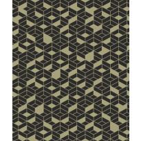 Tapetti HookedOnWalls Flake, kultainen-musta, 0,53x10,05m