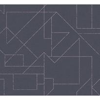 Tapetti HookedOnWalls Outline, tummansininen, 0,70x10,05m