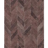 Tapetti HookedOnWalls Carve, punamusta, 0,53x10,05m