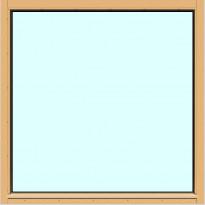 Yksilasinen ikkuna HR-Ikkunat, 12x12, suojakäsitelty karmi, kiinteä ikkuna, tasolasi