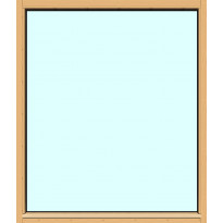 Yksilasinen ikkuna HR-Ikkunat, 12x14, suojakäsitelty karmi, kiinteä ikkuna, tasolasi