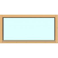 Yksilasinen ikkuna HR-Ikkunat, 12x6, suojakäsitelty karmi, kiinteä ikkuna, karkaistu turvalasi