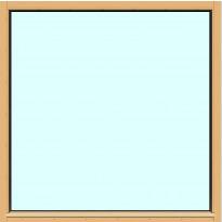 Yksilasinen ikkuna HR-Ikkunat, 14x14, suojakäsitelty karmi, kiinteä ikkuna, tasolasi