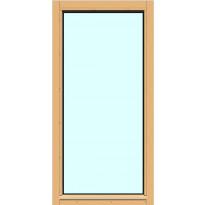 Yksilasinen ikkuna HR-Ikkunat, 6x12, suojakäsitelty karmi, kiinteä ikkuna, karkaistu turvalasi