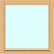 Yksilasinen ikkuna HR-Ikkunat, 6x6, suojakäsitelty karmi, kiinteä ikkuna, tasolasi