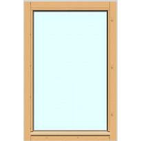 Yksilasinen ikkuna HR-Ikkunat, 6x9, suojakäsitelty karmi, kiinteä ikkuna, karkaistu turvalasi