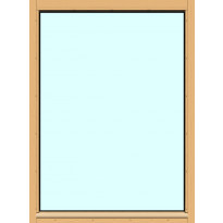 Yksilasinen ikkuna HR-Ikkunat, 9x12, suojakäsitelty karmi, kiinteä ikkuna, karkaistu turvalasi