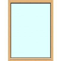 Yksilasinen ikkuna HR-Ikkunat, 9x12, suojakäsitelty karmi, kiinteä ikkuna, tasolasi
