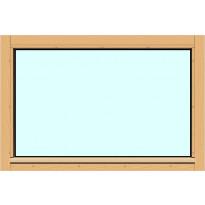 Yksilasinen ikkuna HR-Ikkunat, 9x6, suojakäsitelty karmi, kiinteä ikkuna, karkaistu turvalasi