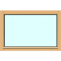 Yksilasinen ikkuna HR-Ikkunat, 9x6, suojakäsitelty karmi, kiinteä ikkuna, tasolasi