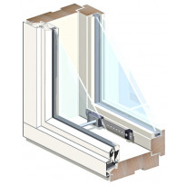 Puu-alumiini-tuuletusikkuna HR-Ikkunat, MSEAL 3x12