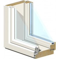 Puu-alumiini-ikkuna HR-Ikkunat, MSEAL 9x9