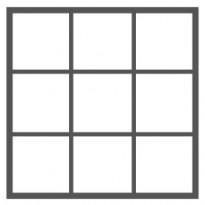 9 ruutua (3 ruutua vierekkäin - 3 ruutua allekkain)