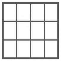 12 ruutua (4 ruutua vierekkäin - 3 ruutua allekkain)