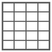 20 ruutua (4 ruutua vierekkäin - 5 ruutua allekkain)