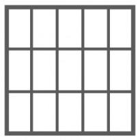 15 ruutua (5 ruutua vierekkäin - 3 ruutua allekkain)