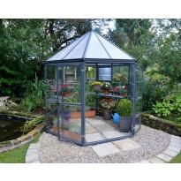 Kasvihuone Palram Oasis 3.9m², 6-kulmainen