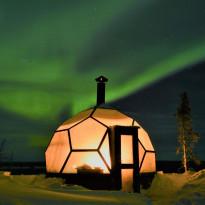 Lasi-iglu Arctic Globe Inari, 9m², Verkkokaupan poistotuote