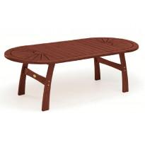 Pöytä, 110x170/230/290cm, mahonki, ruskea (11706)