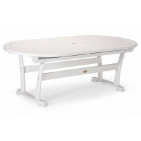 Pöytä Amelia, 110x212-332cm, valkoinen