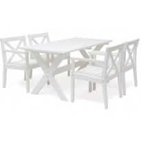 Ruokailuryhmä Sjövik Hillerstorp, 4 tuolia, valkoinen