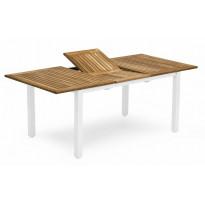 Pöytä Visingsö, 96x150/200cm, valkoinen/ruskea