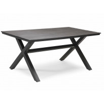 Pöytä Nydala, 90x150cm, x-Jalka, harmaa/musta