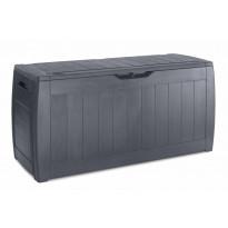 Säilytyslaatikko Hillerstorp Hollywood, 118x45x57,5cm, musta, muovia