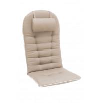 Istuinpehmuste Tennessee kansituoliin niskatyynyllä, 131x55x6cm, ruskeanharmaa